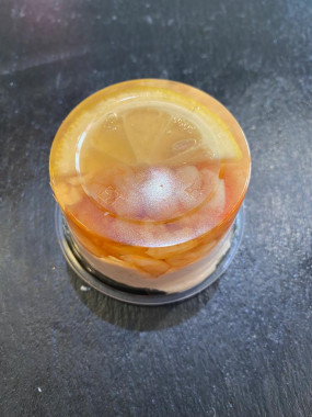 Aspic Saumon crevettes