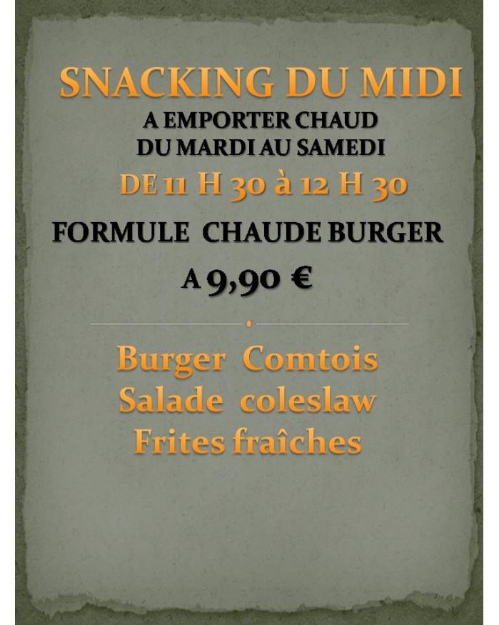 Formule Chaude Burger Comtois